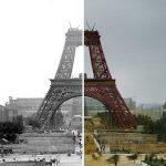 10 оцветени исторически снимки на знамените световни забележителности, преди да бъдат построени