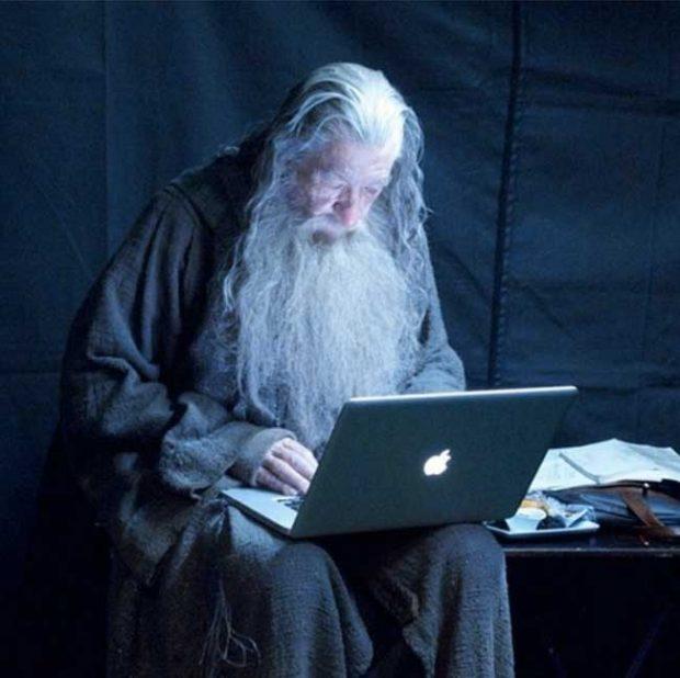 Гандалф търси Властелинът на пръстените в Гугъл