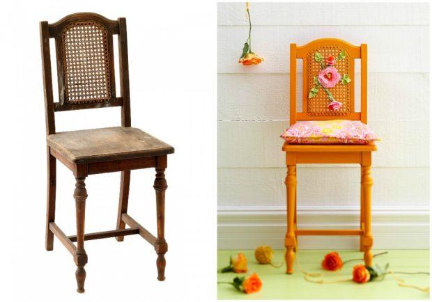 Занемареният, протрит стол може да се превърне в изискана мебел с ведро настроение