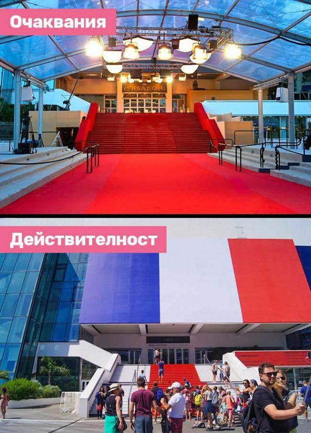 Фестивалният и конгресен дворец в Кан - мястото, където се провежда филмовият фестивал