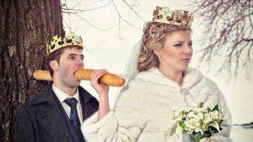 15 напълно откачени сватбени снимки от Русия