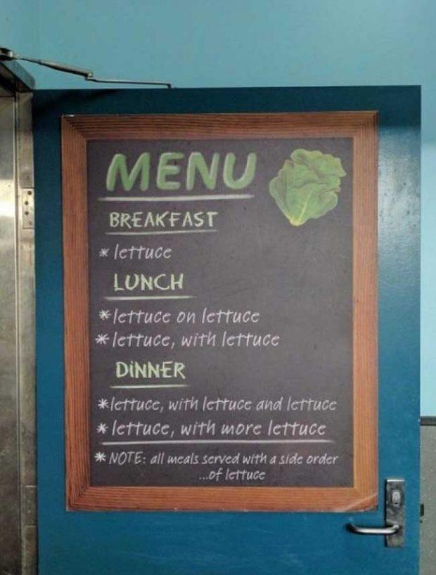 Ето и едно меню за хора, които са на диета