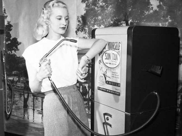 Вендинг машина за изкуствен тен, САЩ (1949)