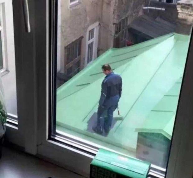 А сега само трябва да изчака целият покрив да изсъхне