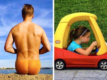Американски фотограф съчетава 2 несвързани снимки и резултатът е креативност в най-висока степен