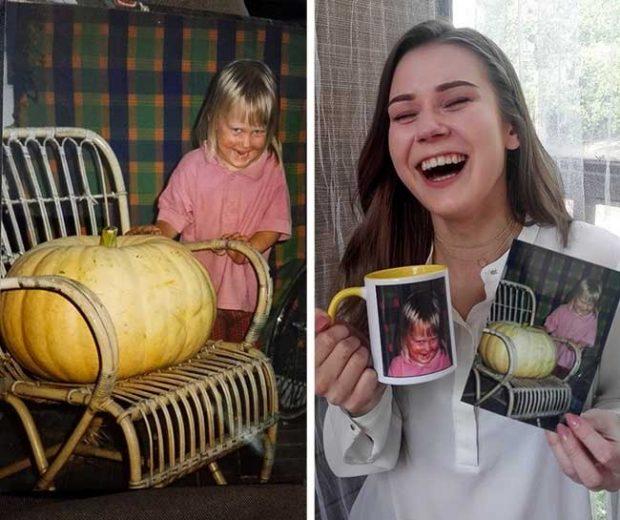 """""""Чаша с детска снимка на сестра ми..."""""""