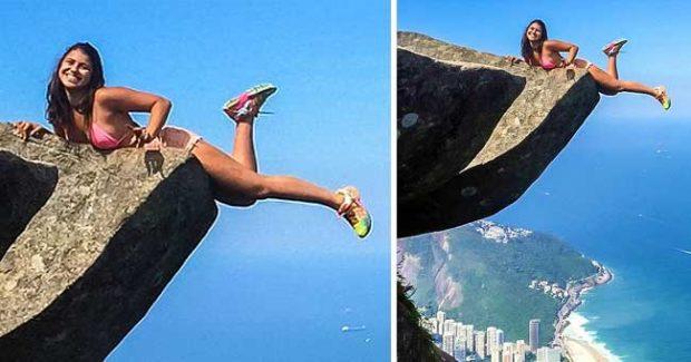 Тази двойка е искала да усети адреналина от височината на Педра да Гавеа в Бразилия