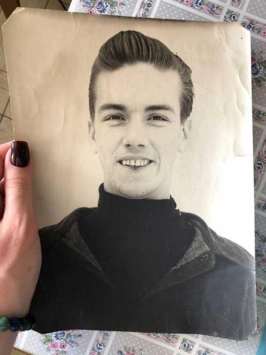 """""""Младият ми дядо през 1958 г. Той е едва на 20 години на тази снимка"""""""