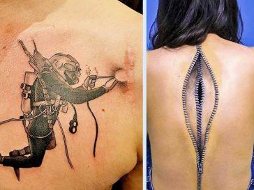 18 татуировки, покриващи белези и превръщащи ги в произведение на изкуството