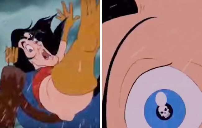 Създателите на анимационни филми обичат да оставят незабележими детайли, с които да се пошегуват. Особено, когато смятат, че никой няма да ги забележи