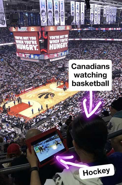 Ето как канадците гледат баскетбол