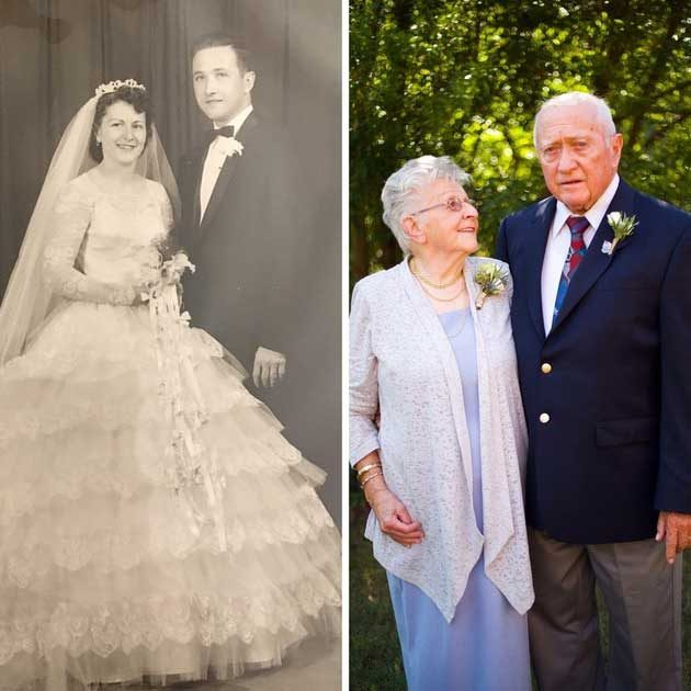 На сватбения ден и 60 години по-късно