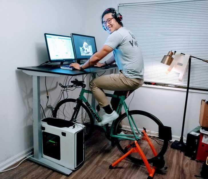 Вече можеш да направиш сутрешната разходка с колелото, дори и офисът ти да е у вас