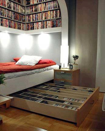 Обгради се с книги, можеш да имаш библиотека дори и под леглото