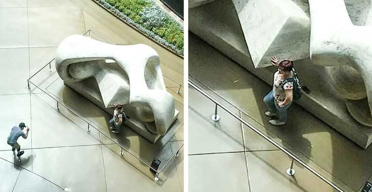 Тези, които мислят, че огражденията в музеите са поставени за всички други, но не и за тях