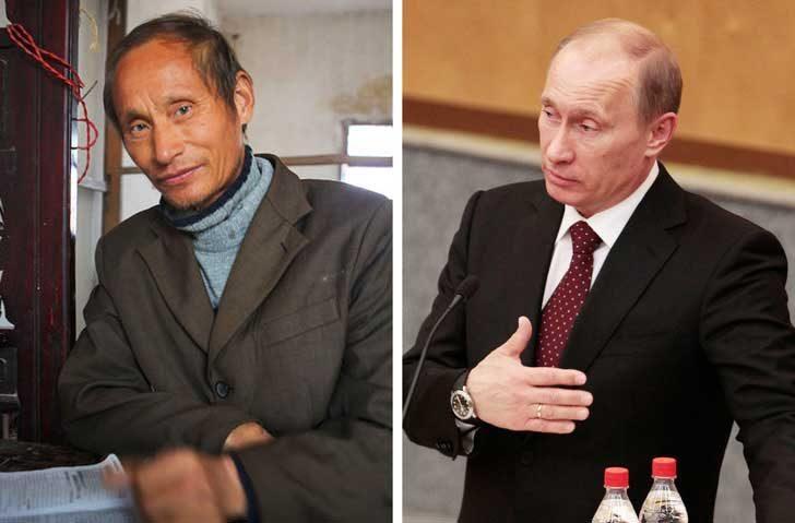 Ло Юан Пин и Владимир Путин