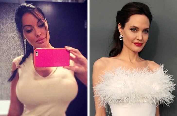 Веоника Блек и Анджелина Джоли