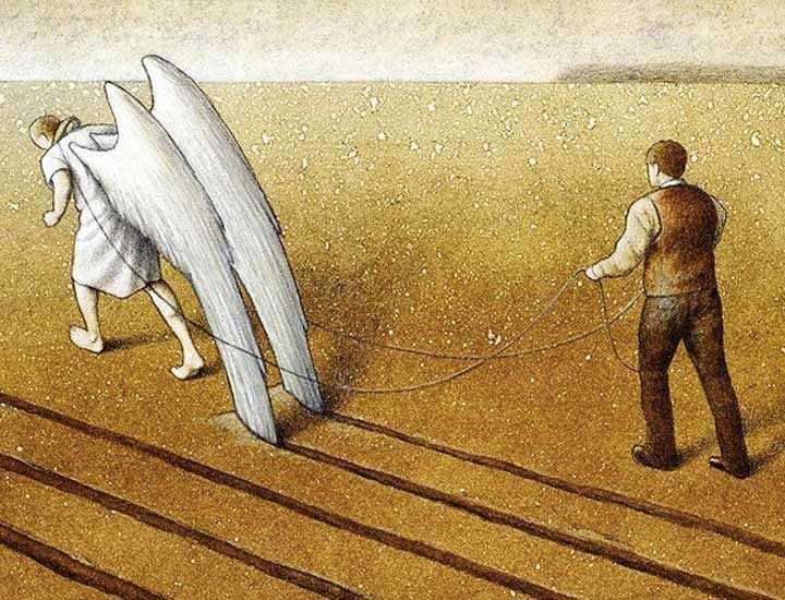 Полски художник разкрива фалшивия свят, в който живеем