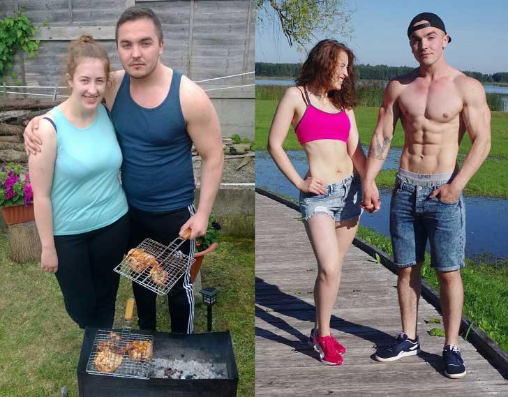 Тази двойка влиза в перфектна физическа форма за една година и дори започват да изглеждат с поне 10 години по-млади. Всичко това заради едно обещание в нощта на Нова година