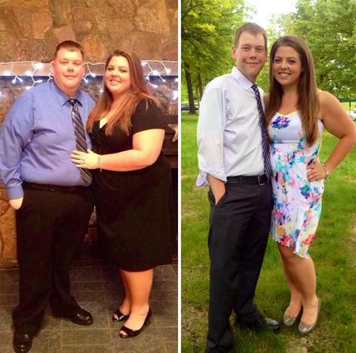 През 2013 г. тази двойка реши, че е крайно време да започнат да живеят здравословно. Година по-късно те свалили общо 150 кг и започнали да изглеждат зашеметяващо