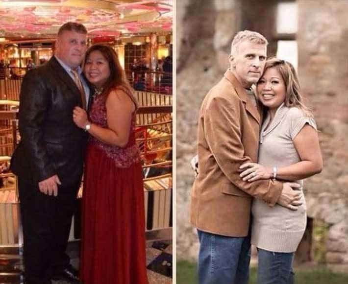 Тази двойка си поставя за цел да отслабне на възраст, когато повечето хора започват да игнорират физическата си форма. Заедно свалят близо 60 кг за една година