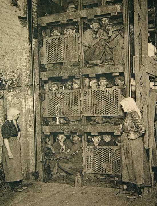 Белгийски миньори, 1900 г.