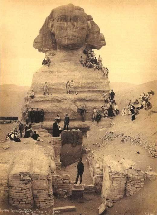 Разкопките на Сфинкса, около 1850 г.