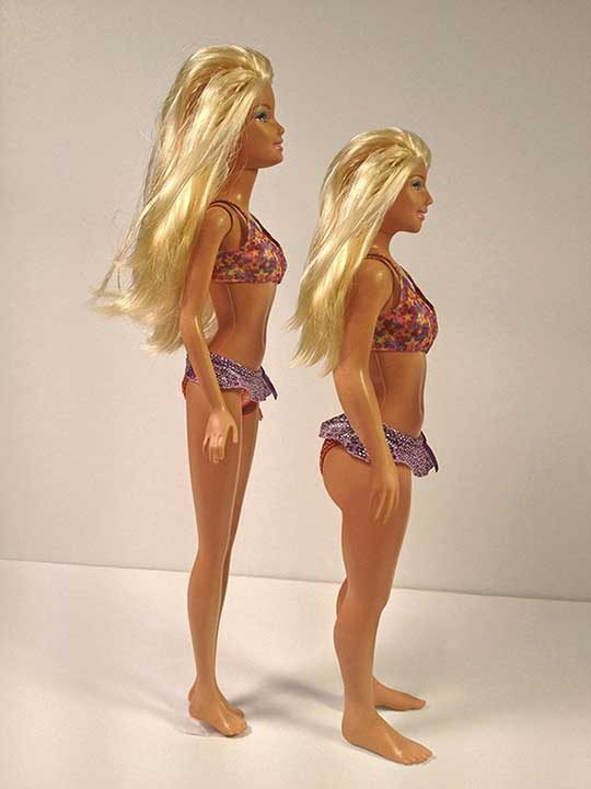 Пропорциите на Барби в сравнение с нормалното за 19-годишно момиче