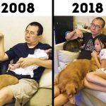 19 преди и след снимки, показващи силата на времето