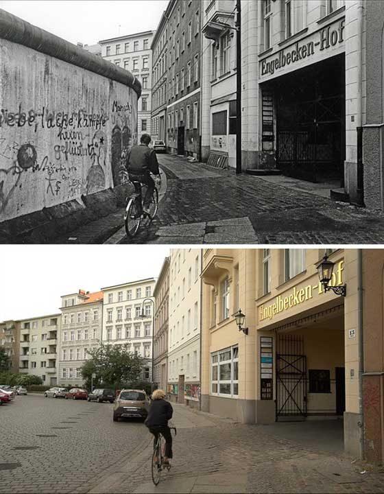 Каране на колело в Кройцберг тогава (1985 г.) и сега