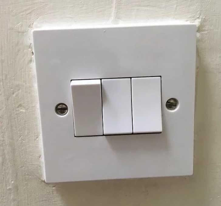 Всички лампи са изключени...