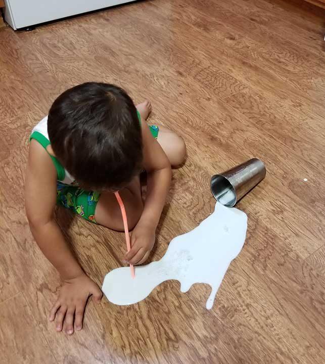 Не си заслужава да плачеш за едно разлято мляко. По-добре го изпий!