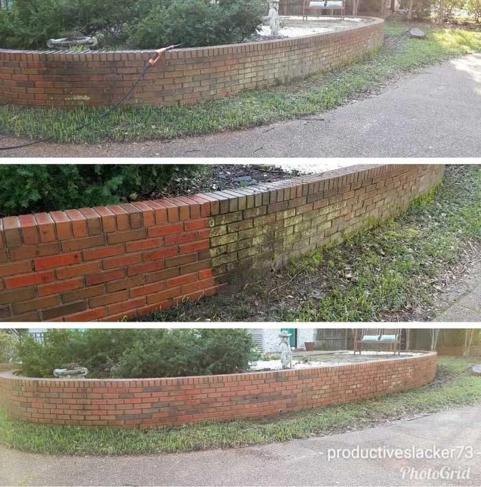 Работя по къщата на този клиент от години и винаги му предлагам да почистя и оградата. Най-накря се съгласи и ето какво направих вчера