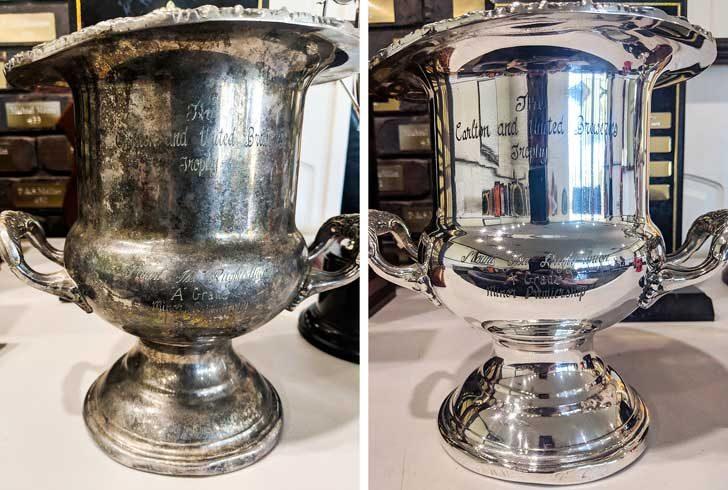 """""""Този трофей стои на рафта от години и дори не предполагахме как ще изглежда, като го почистим"""""""