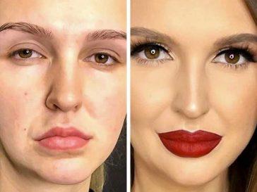 Момичета споделят свои снимки преди и след грим. Някои изглеждат като напълно различни хора