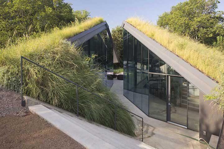 Къща под хълма в Тексас, САЩ