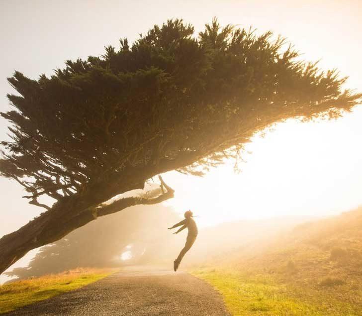 Кадър на хармонията между човек и природа