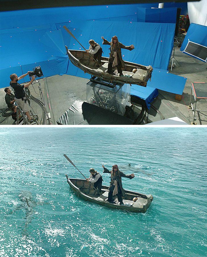 """Оказва се, че на снимачната площадка на """"Карибски пирати"""" не било чак толкова опасно, колкото изглежда на екрана"""