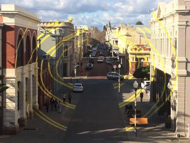 Улично изкуство в Австралия, което изглежда като излязло от Photoshop