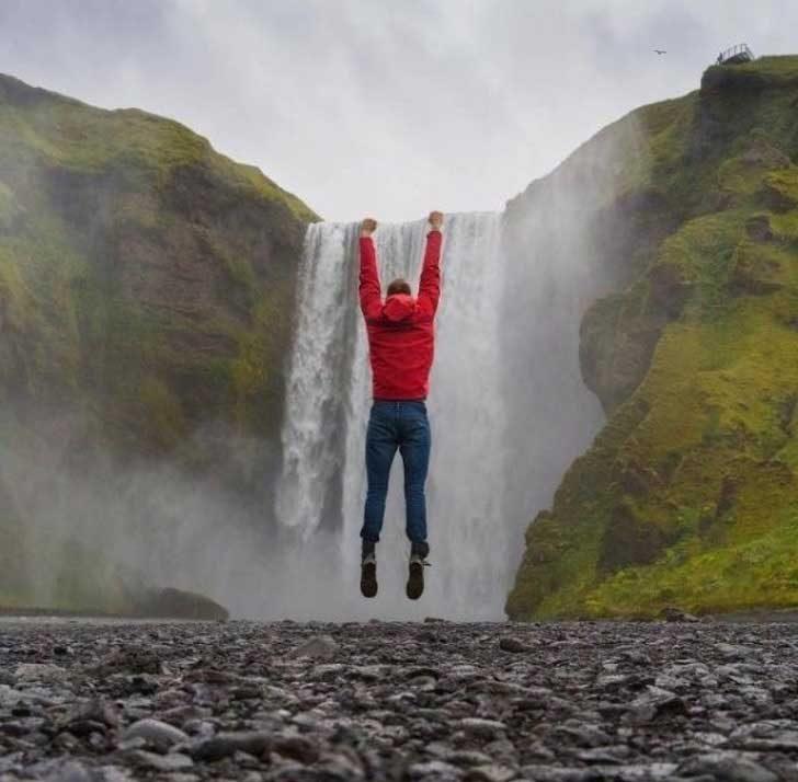 Да се провесиш от водопада...