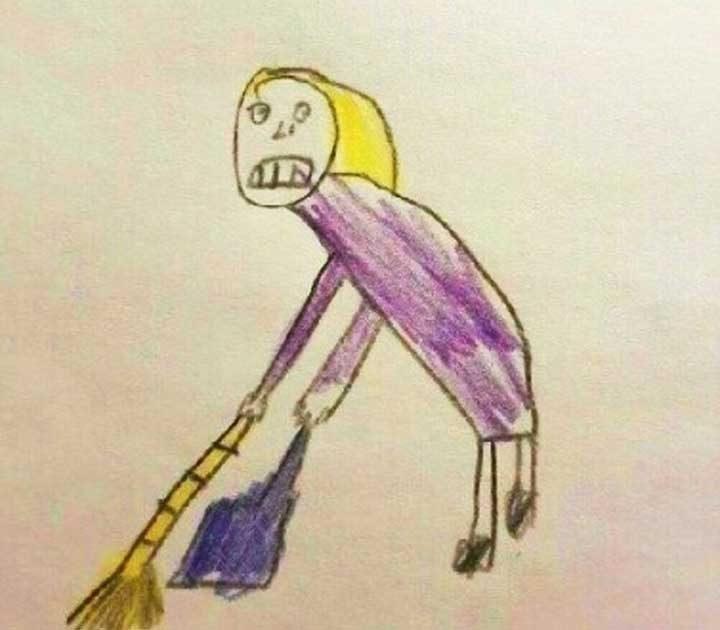 """""""За домашна работа трябваше да нарисува майка си"""""""