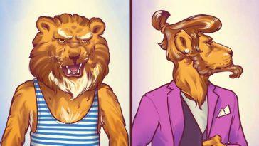 12 забавни илюстрации, показващи, как се промениха мъжете през последните десетилетия