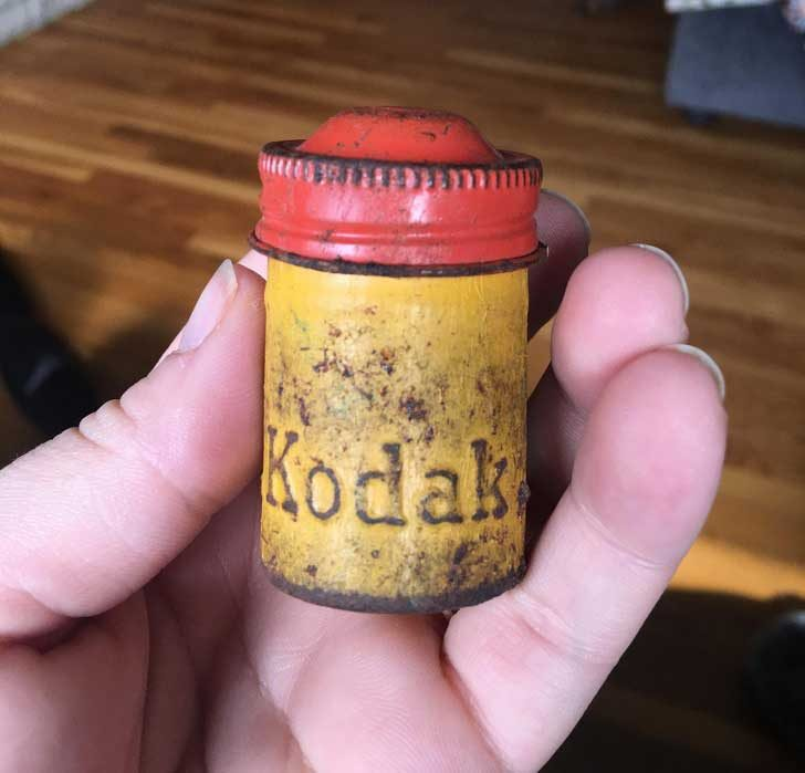 """Стар контейнер за фотографски лента """"Кодак"""""""