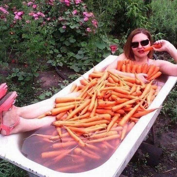 Вана с моркови? Защо не!