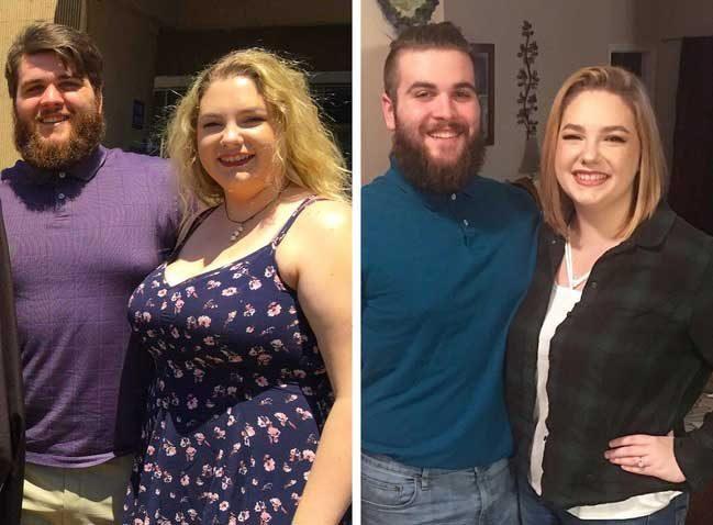 Те искаха да се променят и го направиха. Той свали 32 кг, а тя - 25 кг