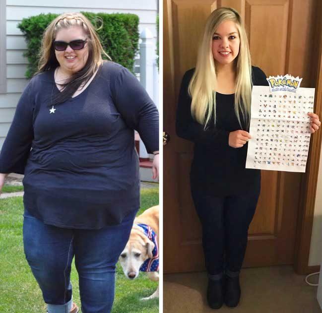 """Тя е свалила над 68 кг за 2 години. """"За всеки килограм, който свалях, залепях по един Покемон!"""""""