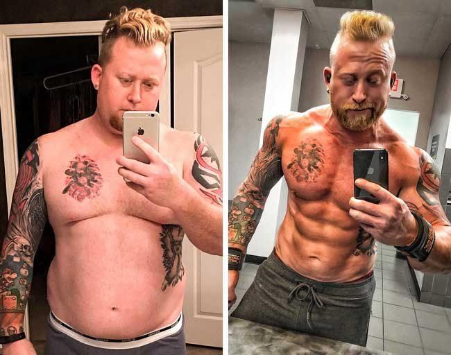 Този мъж се борел с депресията, докато отглеждал сам 3-те си деца. В крайна сметка успял да се събере и свалил близо 40 кг за 2 години. За този период той променя телосложението си
