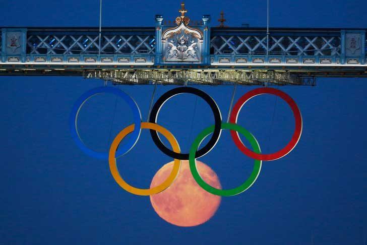 Луната също е завладяна от олимпийския дух