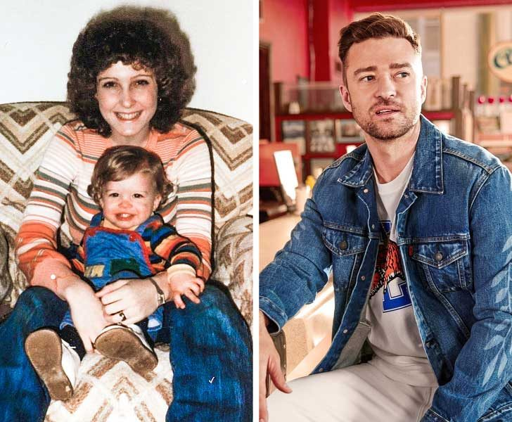 Джъстин Тимбърлейк е най-сладкото малко момченце в прегръдката на майка си