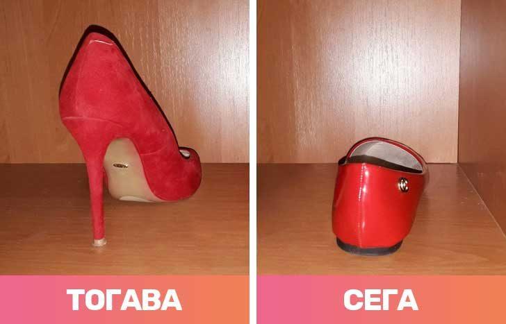 Високите токчета отстъпват място на по-удобните обувки